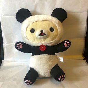 Rilakkuma 2017 Panda Bear with red button EUC